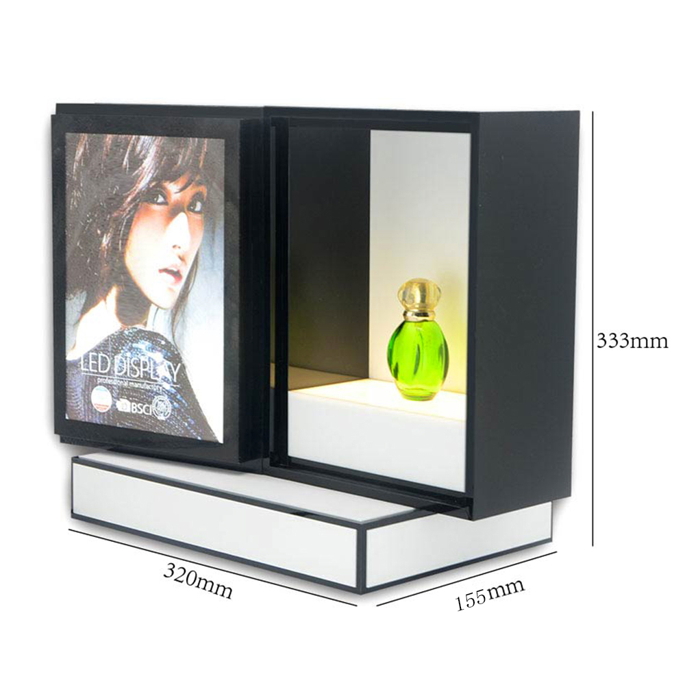 Acrylic Makeup Organizer Perfume Display Rack Cosmetic Advertising LED Display Stand 7454