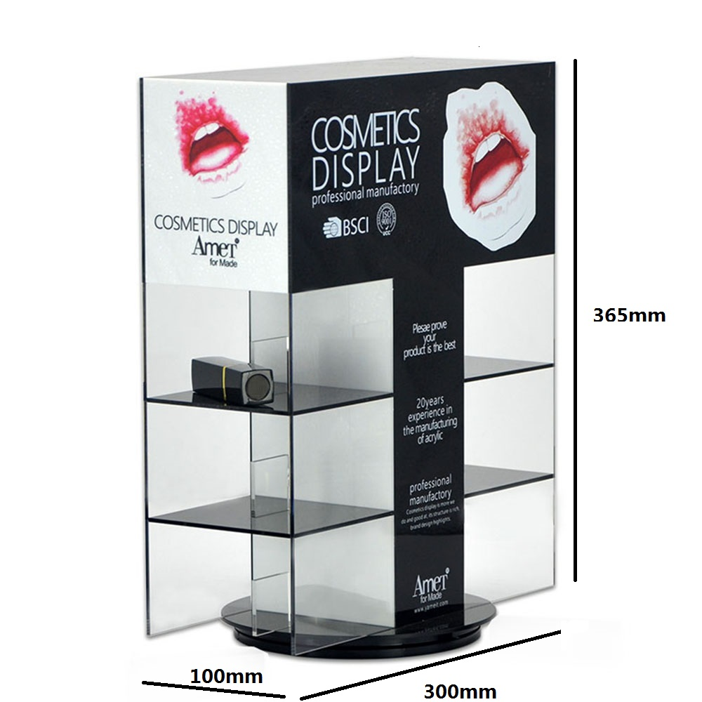 Crystal Clear 72 Makeup Lipstick Cosmetic Storage Display Stand Rack Holder Organiser 22022
