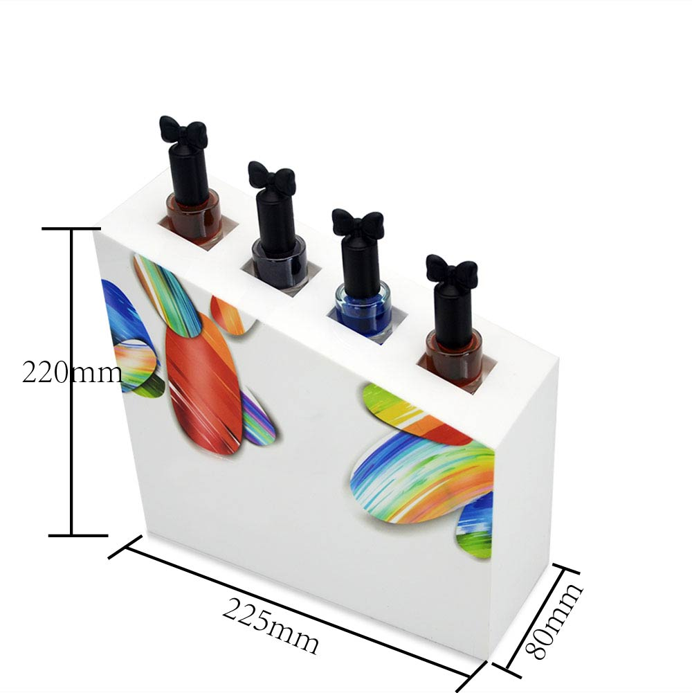 Customized High Quality Color Acrylic Cosmetic Display Stand Acrylic Nail Polish display rack 6565