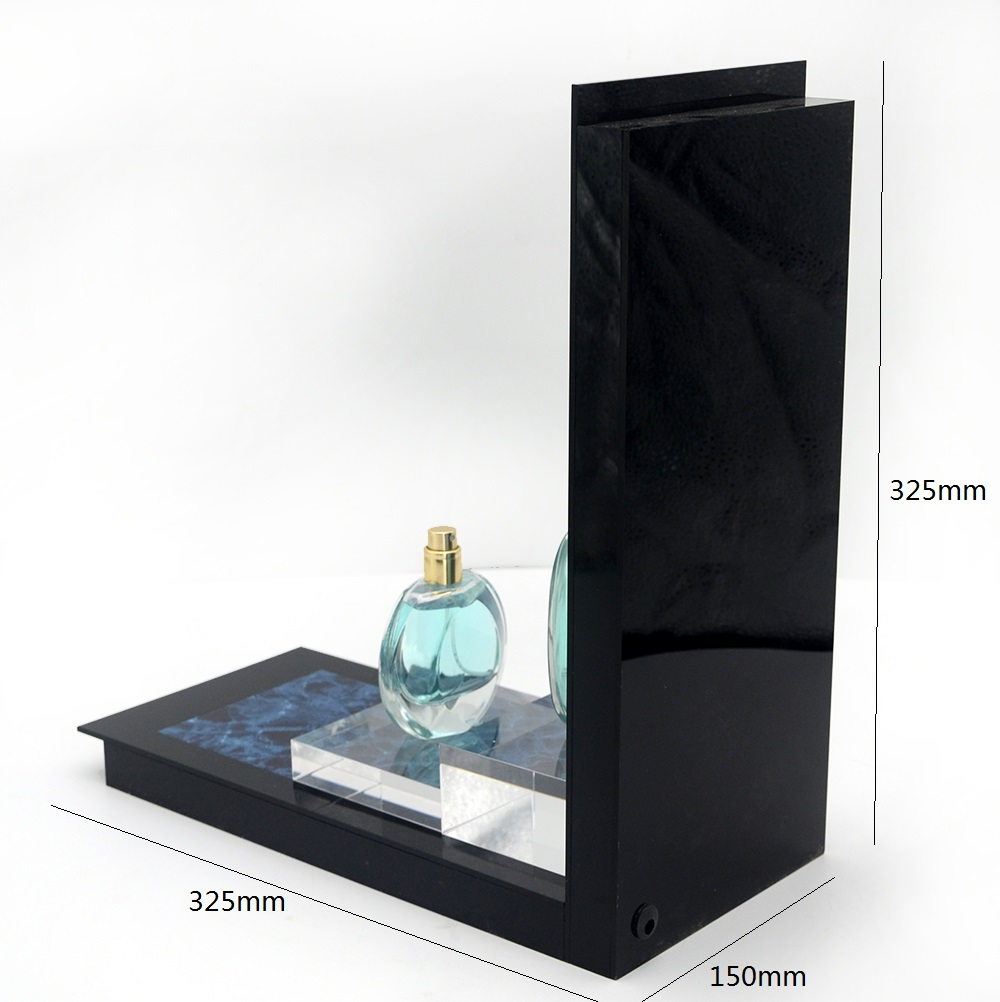 Custom Design Cosmetic Product Acrylic LED Perfume Display Holder Stands Rack