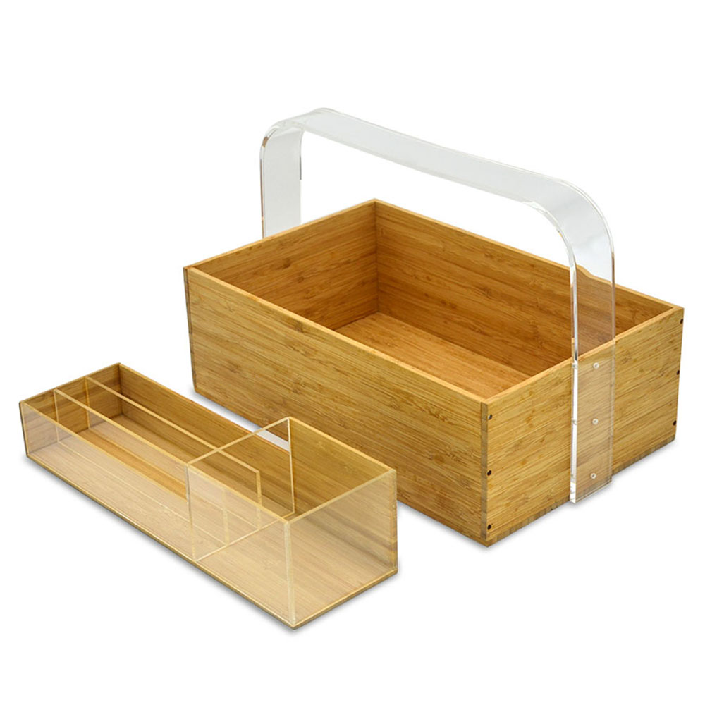 Acrylic Bamboo Materials Made Into Office Supplies For Multi-function Office