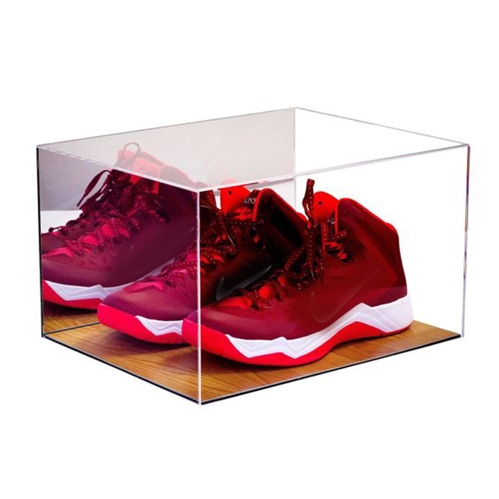 Luxury Sneaker Plexiglass Box Rotating 100% Clear Color Acrylic Shoe Case Display Stand25287