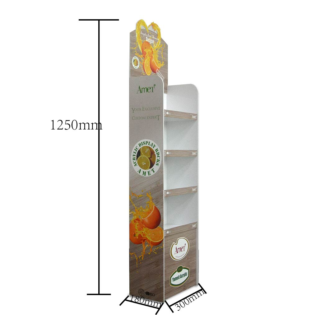 Promotional Store  Acrylic White Floor Display Stand