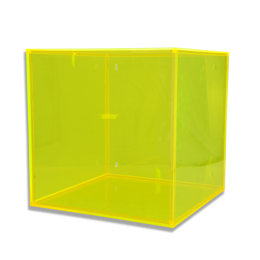 Custom designed Color acrylic display box with fluorescent green for display products