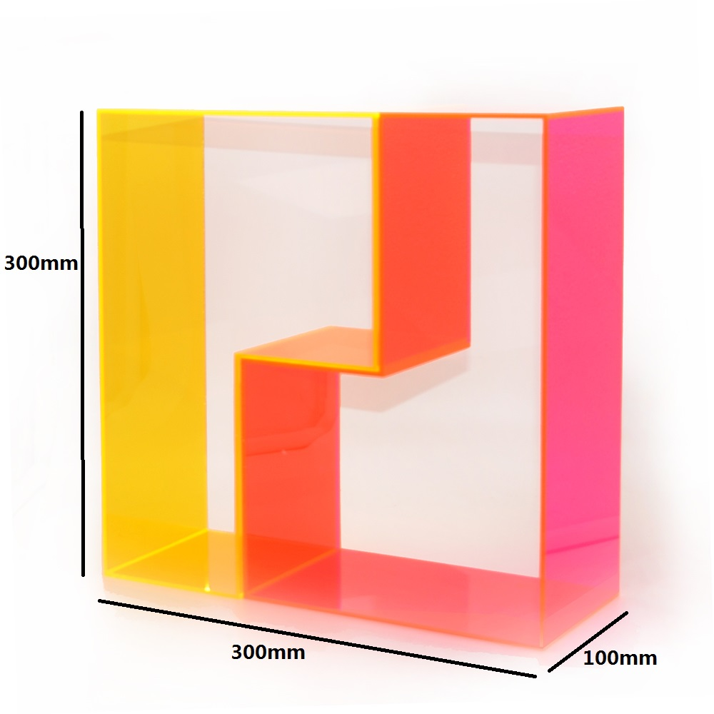 Free Combination Makeup Cosmetic Storage Display Stand With Acrylic Neon Color Plate 7519