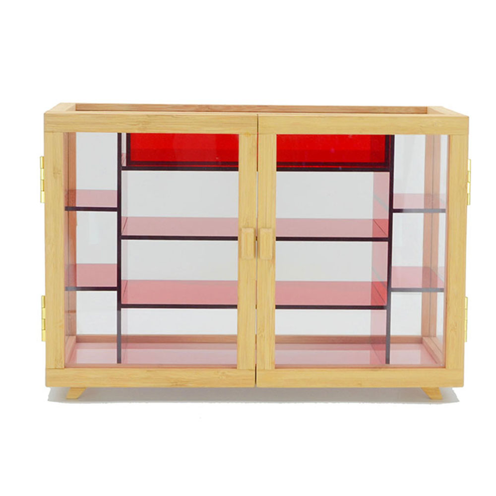 Bamboo Acrylic Jewelry Storage Box With Drawer