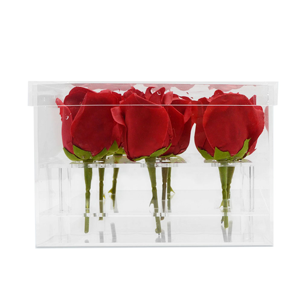 Organizer Acrylic Display Box Packaging Flowers Box Rose
