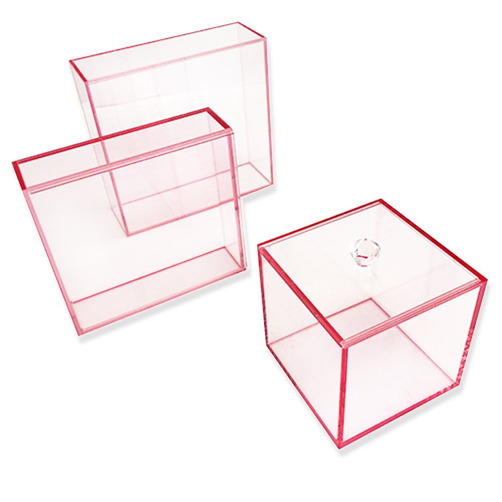 Pull Pink acrylic display case customized size acrylic display box