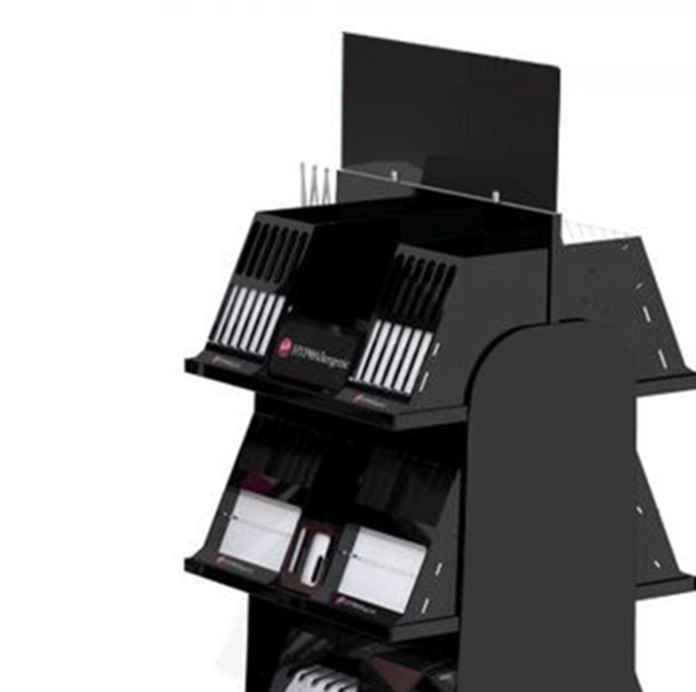 Makeup Brush Organizer Acrylic Cosmetic Display Rack With Drawers And With Turntable