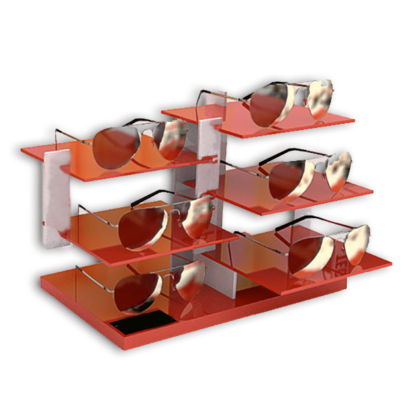 Multi-layer acrylic Sunglasses display rack and display cabinet