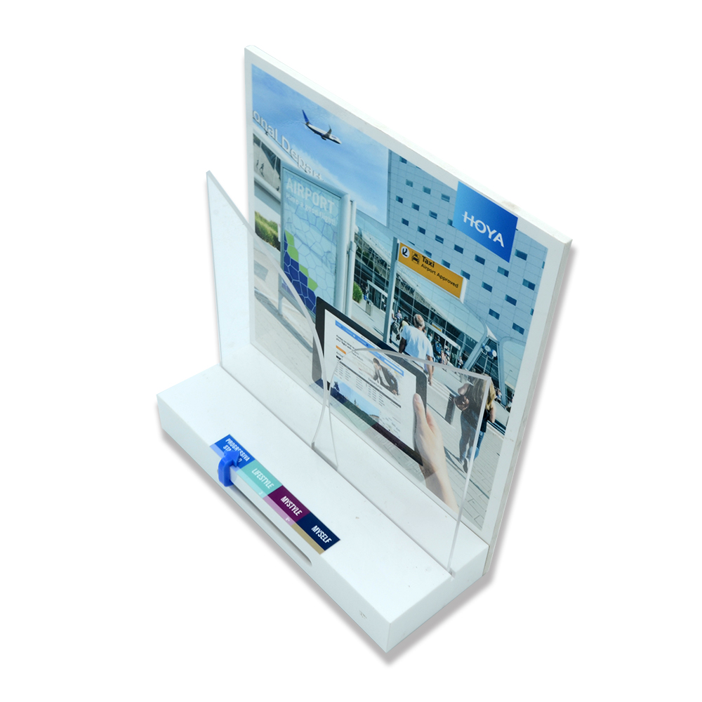 White acrylic functional display frame