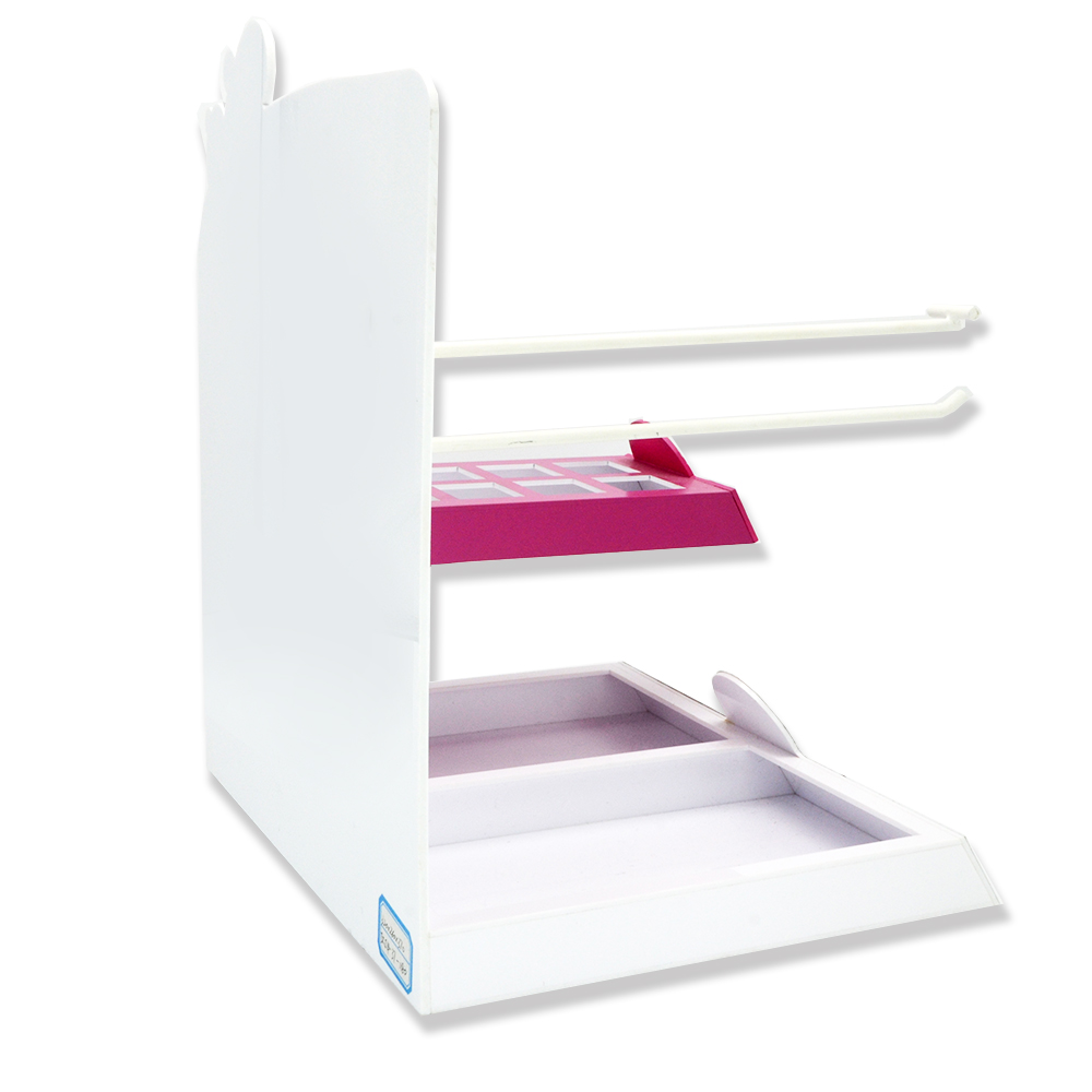 Custom Acrylic Skin Care Products Display Rack With Hook