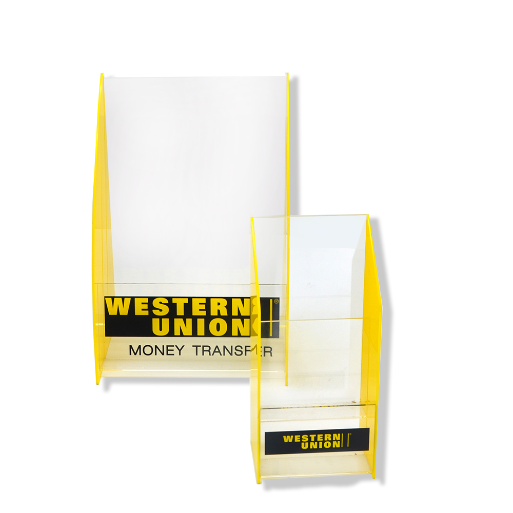 Acrylic Brochure Holder Box with logo 0965
