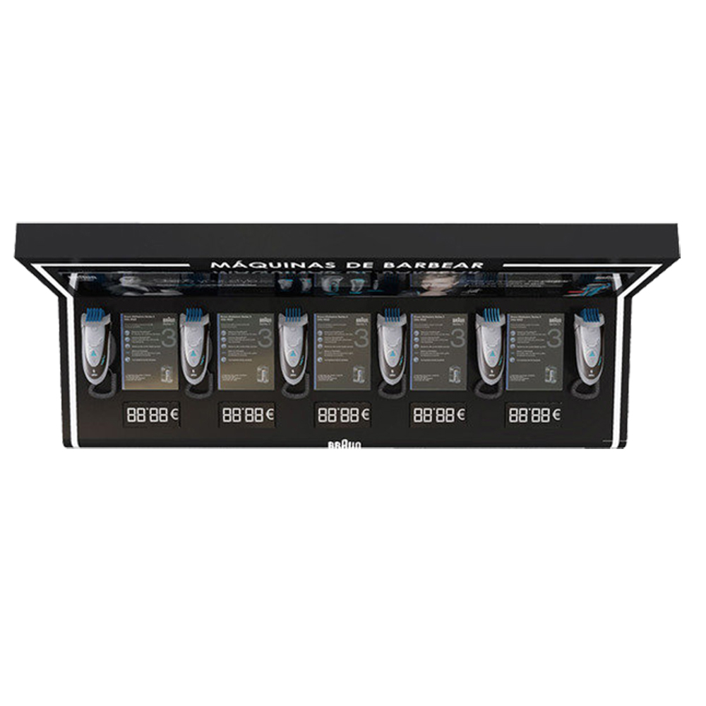 Led Acrylic Men's Products Display Rack