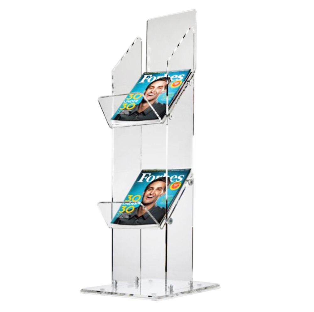 2 Tier Magazine Display Stands