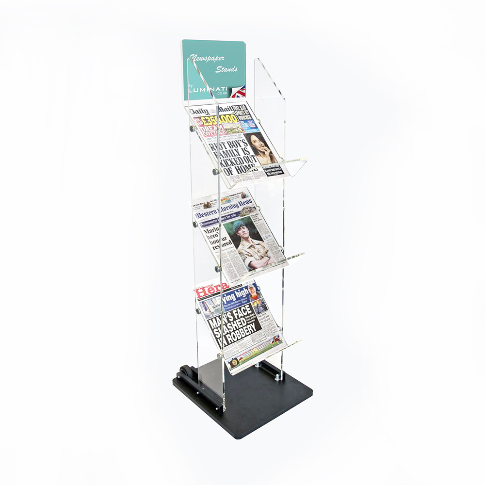 Newspaper Display Stand With Wheels