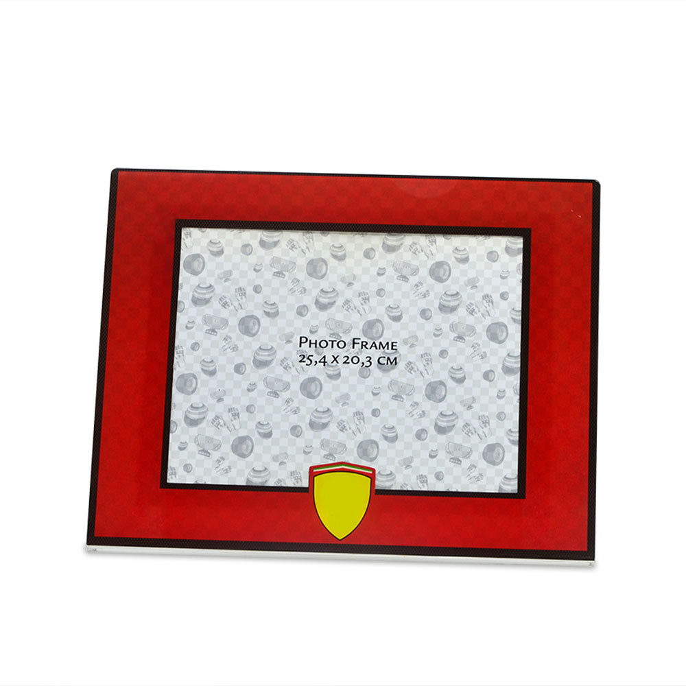 Custom transparent acrylic L-shaped popular logo frame with printed frame66521