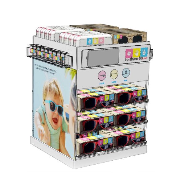 Children Glasses Rotating Display Shelves