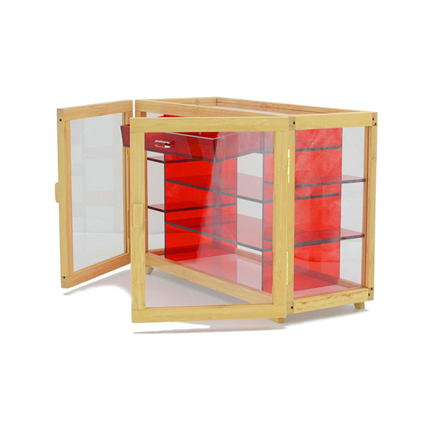Acrylic Bamboo Storage Box with Drawer